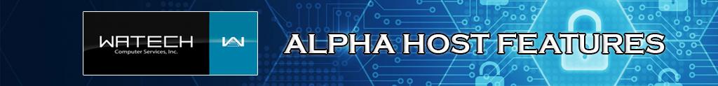 alpha host