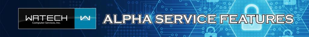 alpha services features